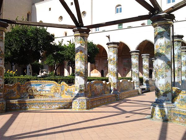 claustro Santa Chiara Nápoles