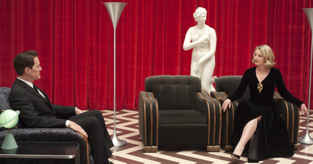 Kyle MacLachlan and Sheryl Lee in a still from Twin Peaks. Photo: Suzanne Tenner/SHOWTIME