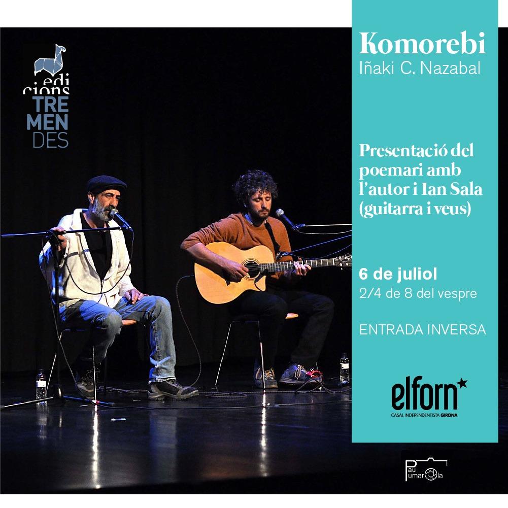 Imagen de la presentación del poemario Komorebi de Iñaki C. Nazabal