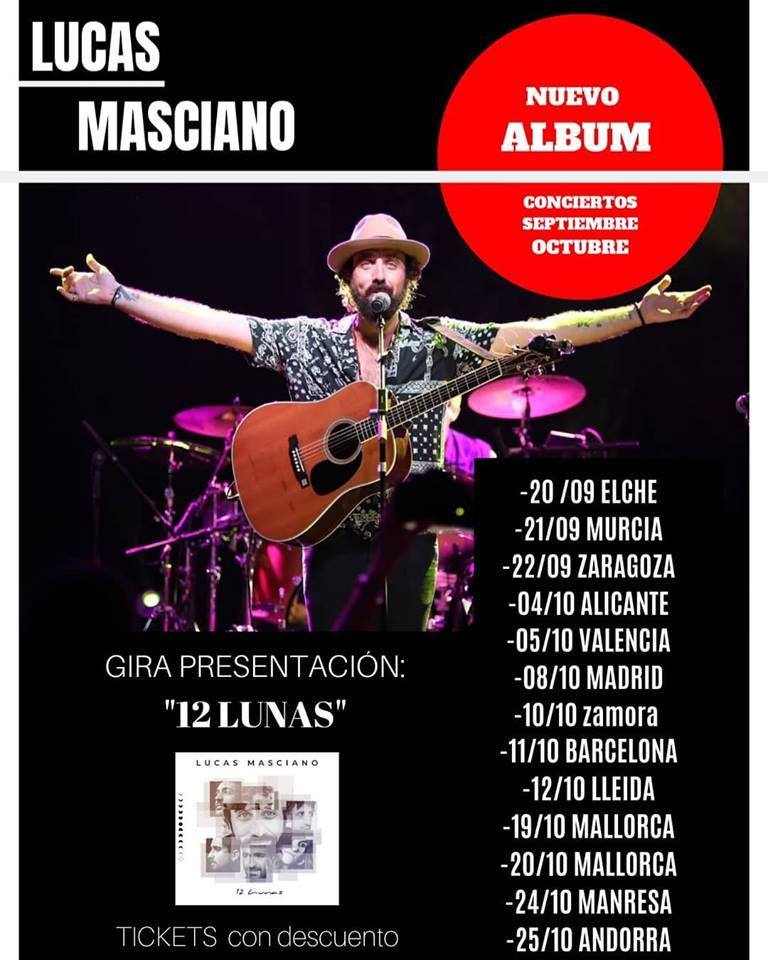 Cartel de la gira del artista argentino Lucas Masciano
