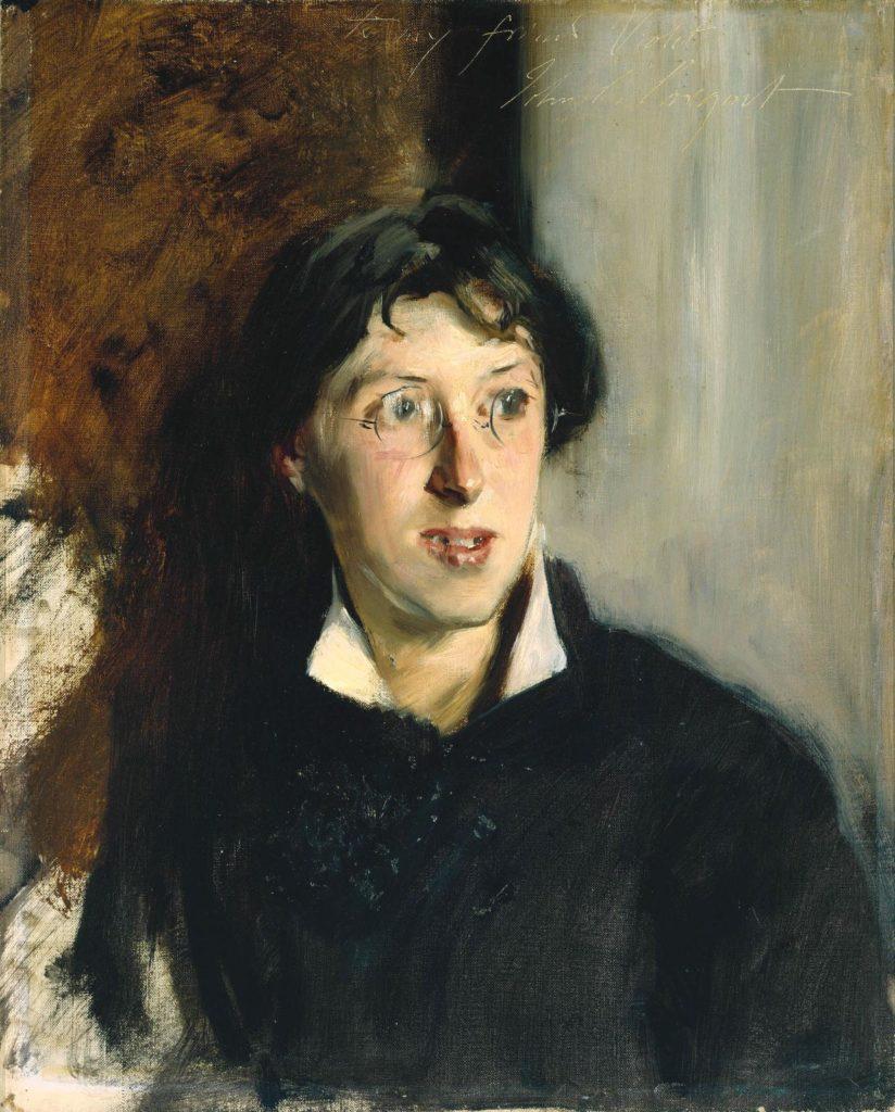 Retrato de Vernon Lee por el pintor John Singer Sargent