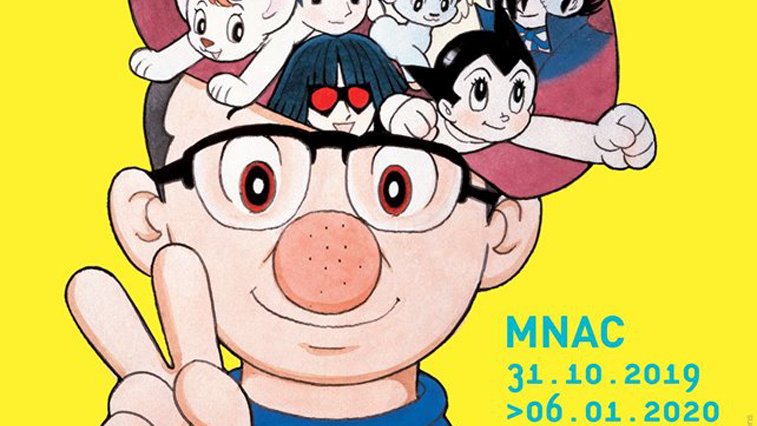 Póster de la exposición Osamu Tezuka dios del manga