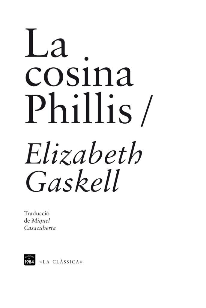 Portada del libro de Elizabeth Gaskell La cosina Phillips, editorial 1984.