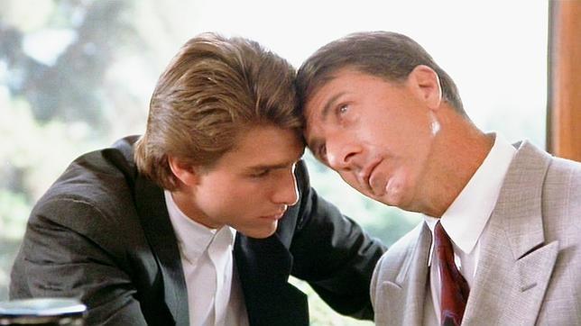 Fotograma de la película Rain Man sobre un hombre con autismo con Dustin Hoffman y Tom Cruise