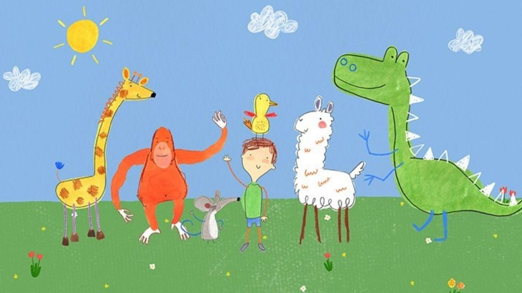 Imagen de la serie de dibujos Pablo, su protagonista tiene autismo
