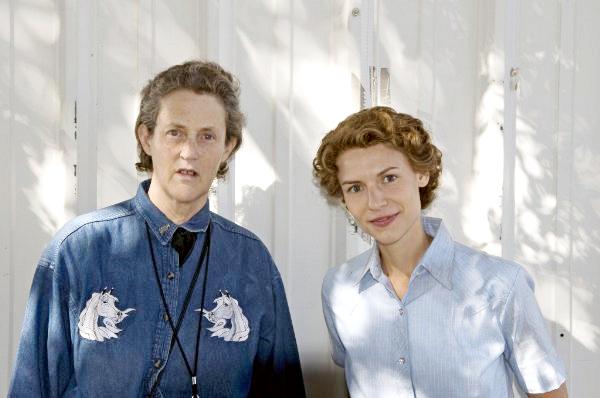Claire Danes y Temple Grandin, la actriz interpreta a la científica con autismo