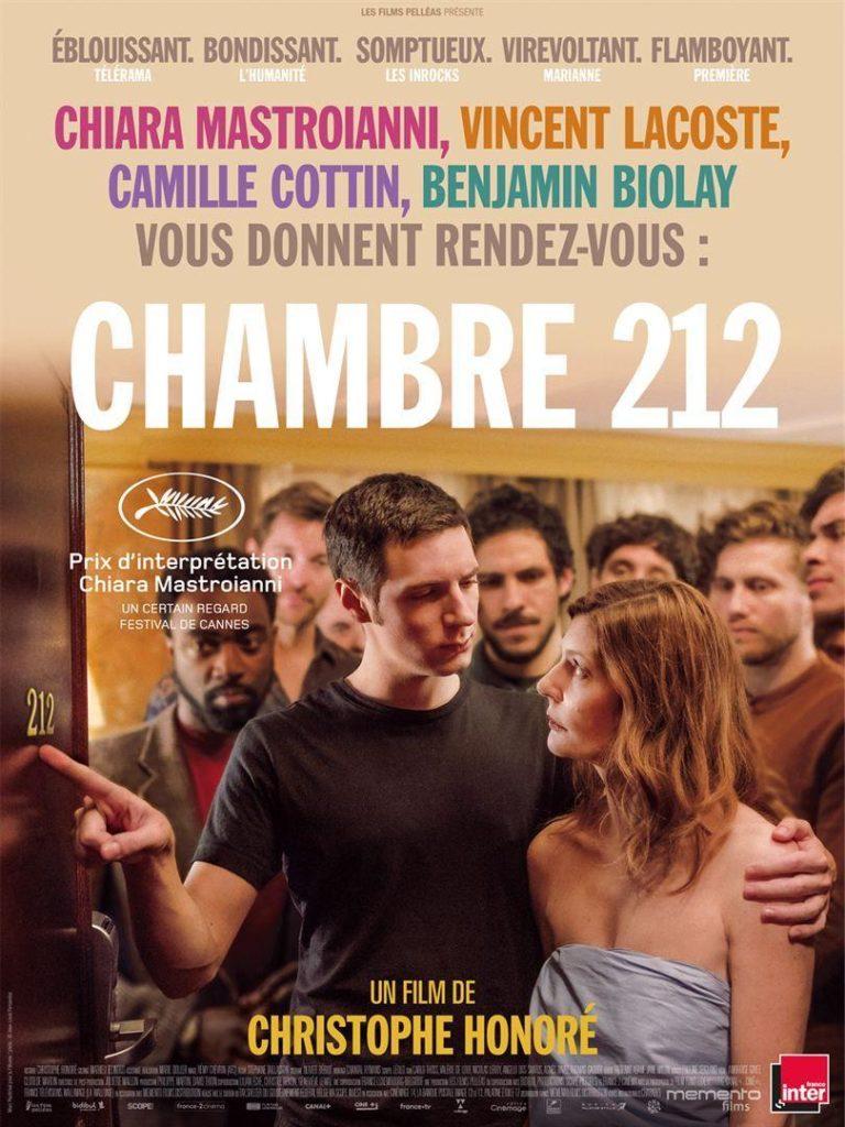 Cartel del film Habitación 212 visto en el D'A 2020