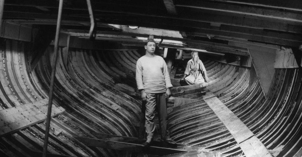 Imagen de los dos protagonistas del film de Agnès Varda La Pointe-Courte