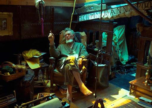 Sterling Hayden en una imagen del documental Faro del caos