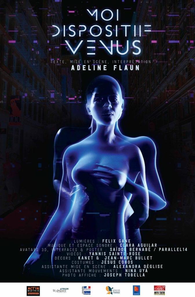 Cartel de la obra de teatro de Adeline Flaun