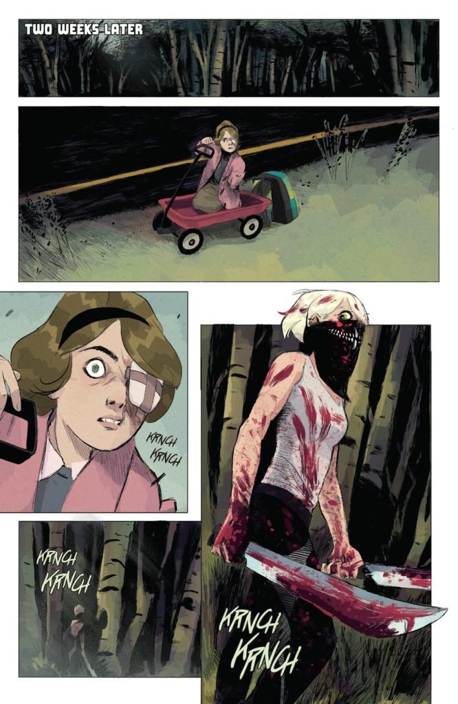 Página del primer volumen de Hay algo matando niños