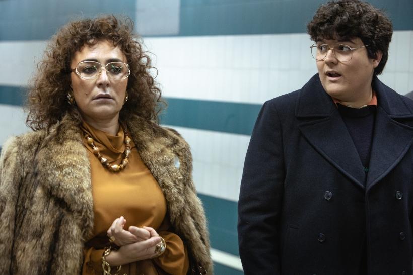 Candela Peña y Gabriel Sánchez en una escena de la serie Maricón perdido