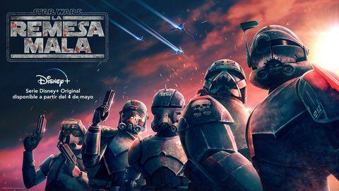 Imagen promocional de la serie de Star Wars La remesa mala