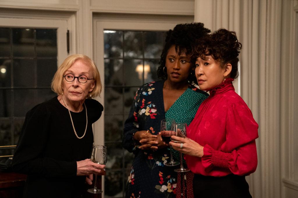 Imagen de Holland Taylor, Nana Mensah y Sandra Oh en La directora