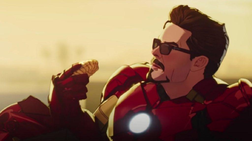 Imagen de la serie de Disneyy Marvel What if con Tony Stark como Ironman