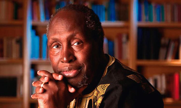 Retrato del escritor keniano Ngũgĩ wa Thiong'o